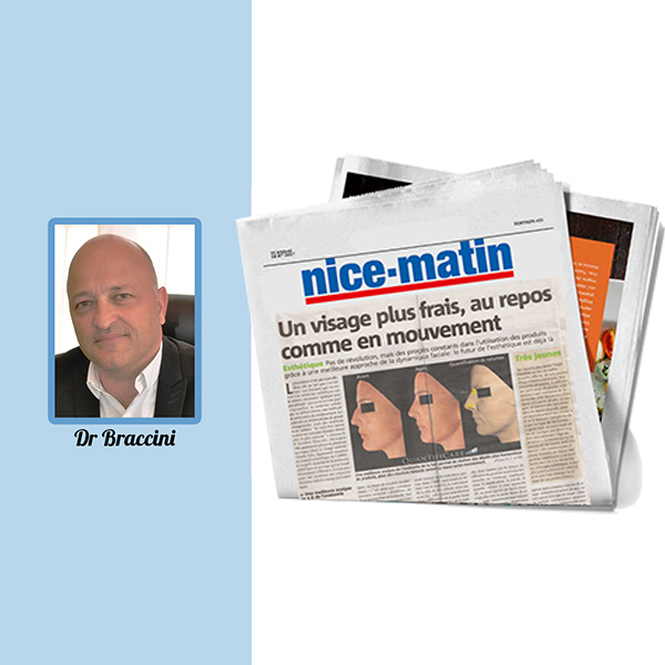 Nice Matin features Dr. Braccini on the importance of 3D in skin rejuvenation